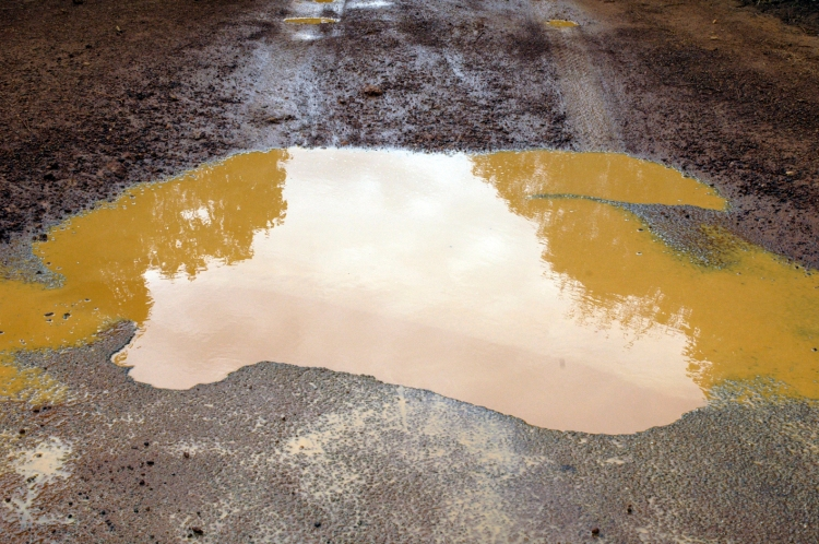yes I KNOW! the PUDDLE is my ROAD is my SKY