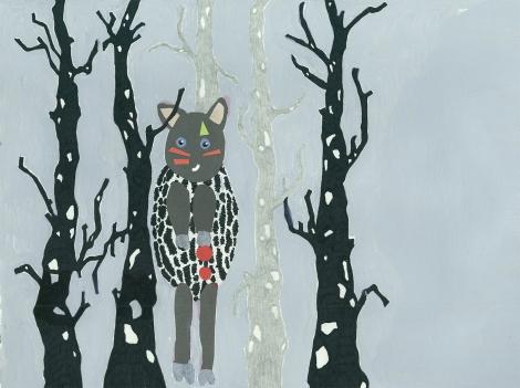 little warrior in the woods