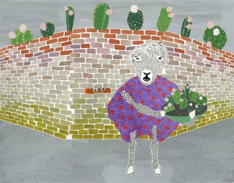 HITW behind wall cacti Baahhh!