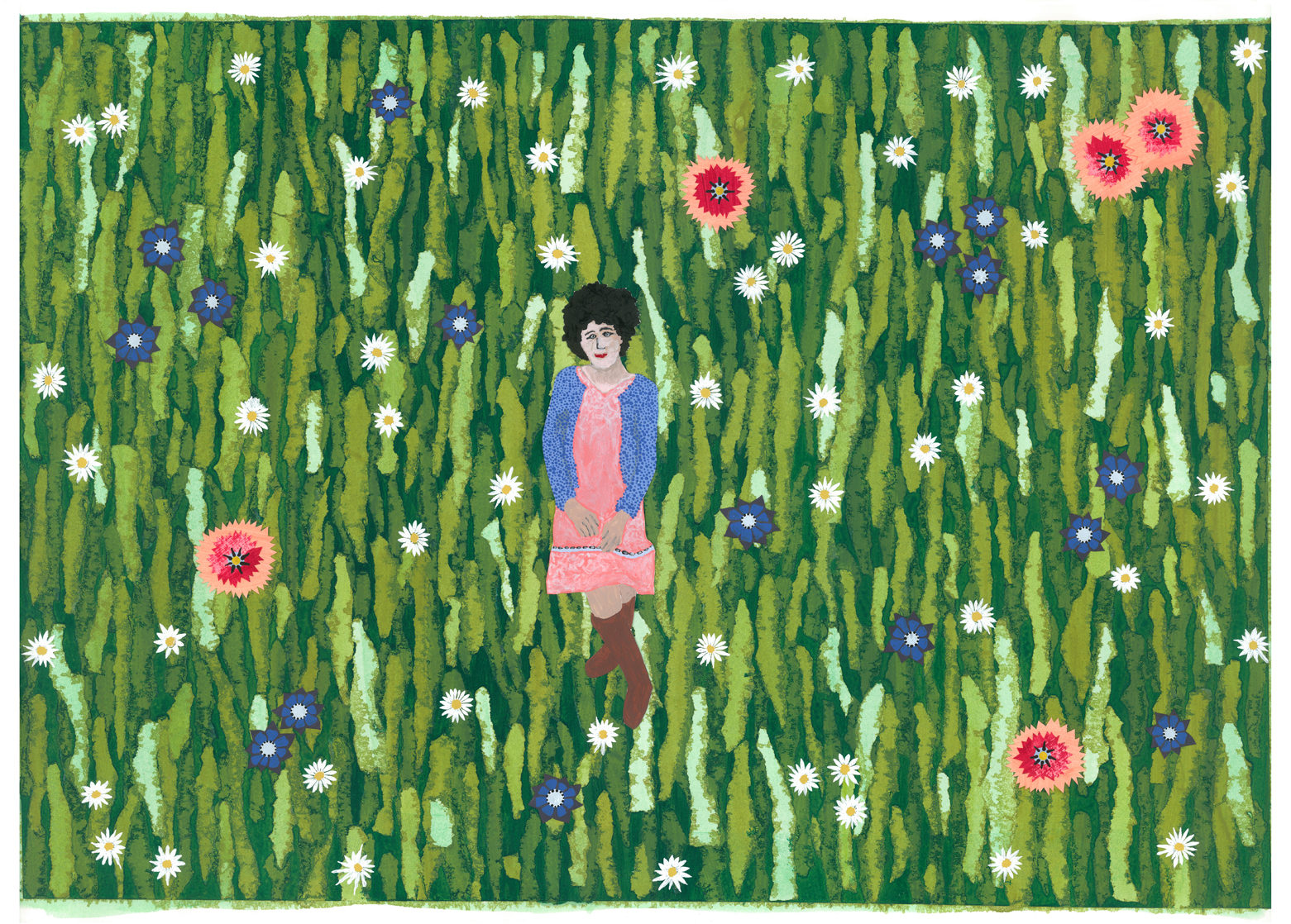 Daisy in a field of flowers
