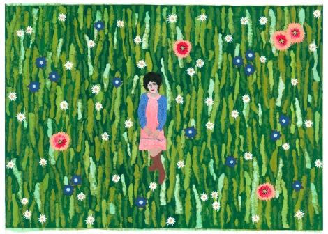 Daisy in a field of flowers
